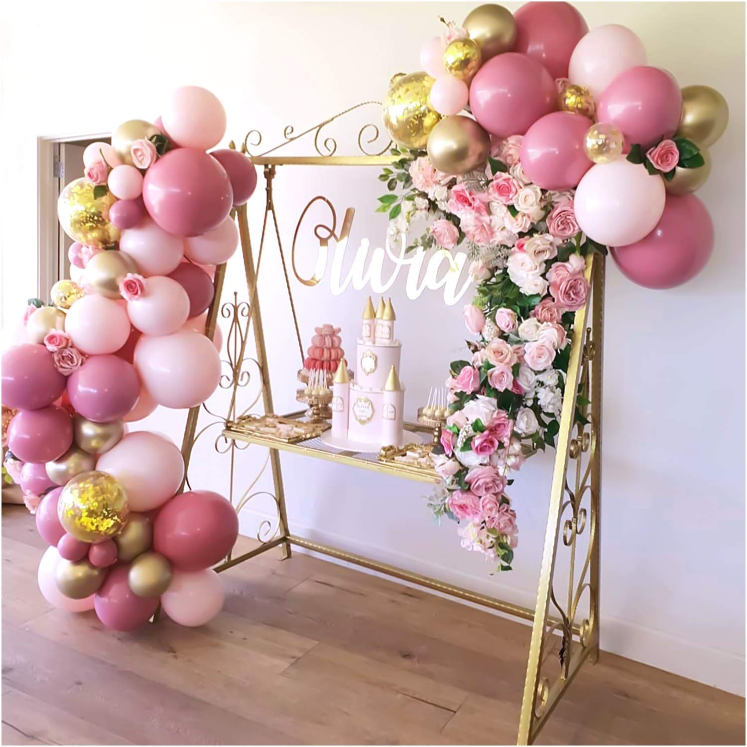 Table Decorations//Confetti Celebrations Baby Feet Pink Baby Shower